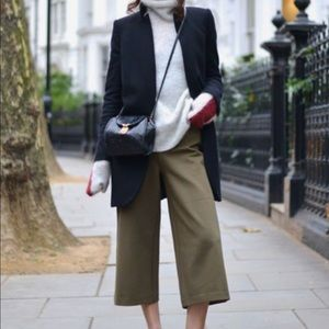 Cache Army Olive Green Gaucho Culotte Pants